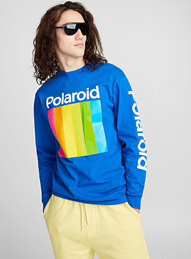 Le t-shirt Polaroid rayures verticales