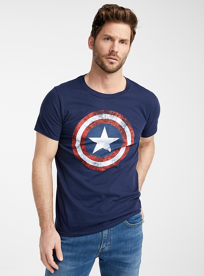 Vintage Captain America T-shirt - Prints - Marine Blue