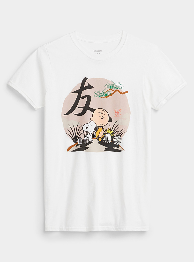 Djab White Charlie Brown in Asia T-shirt for men