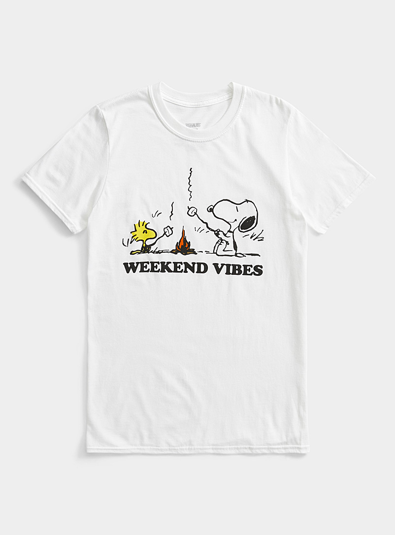 Le 31 White Weekend Vibes T-shirt for men