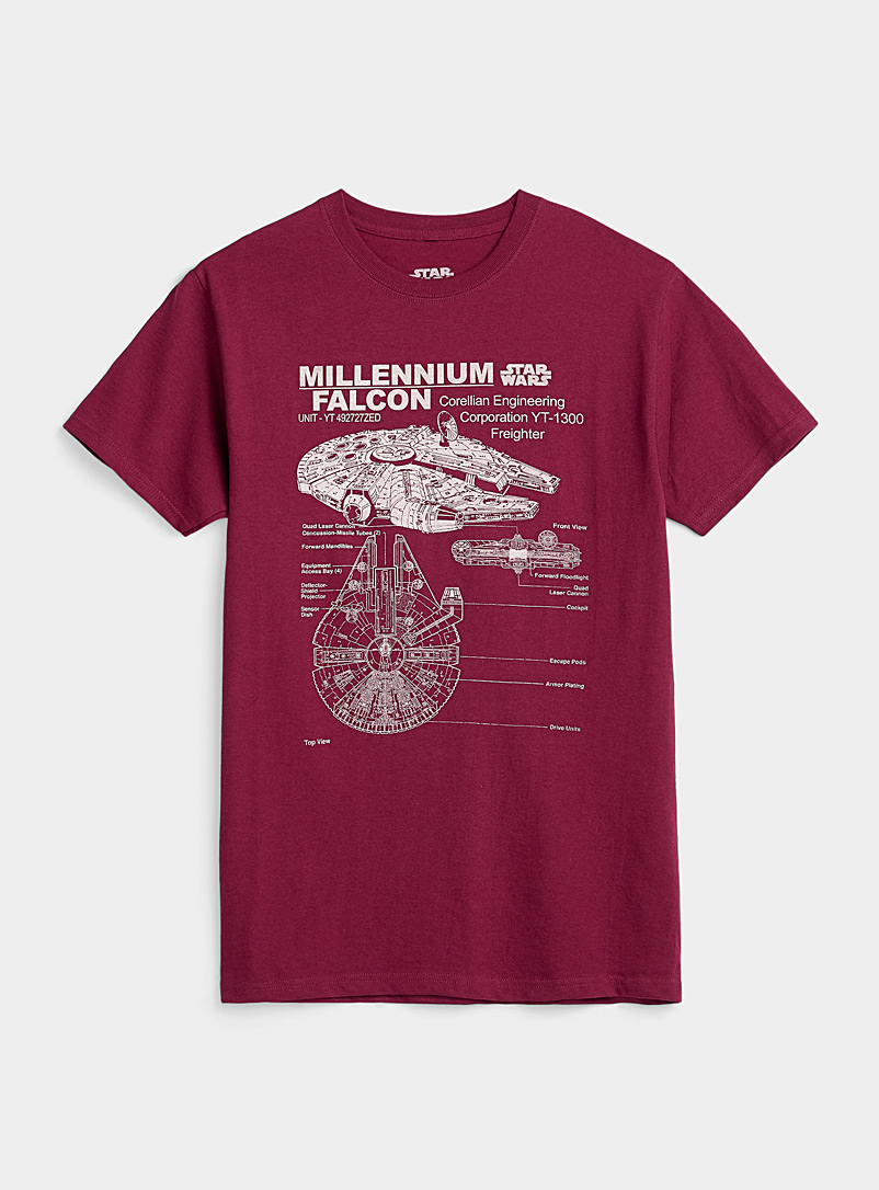 Le 31 Ruby Red Millennium Falcon T-shirt for men