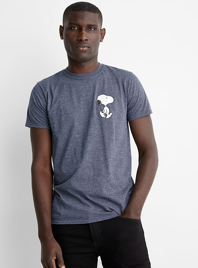 Le 31 Marine Blue Snoopy T-shirt for men