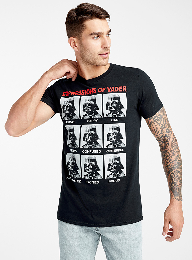 Expressions of Vader T-shirt - Prints - Black