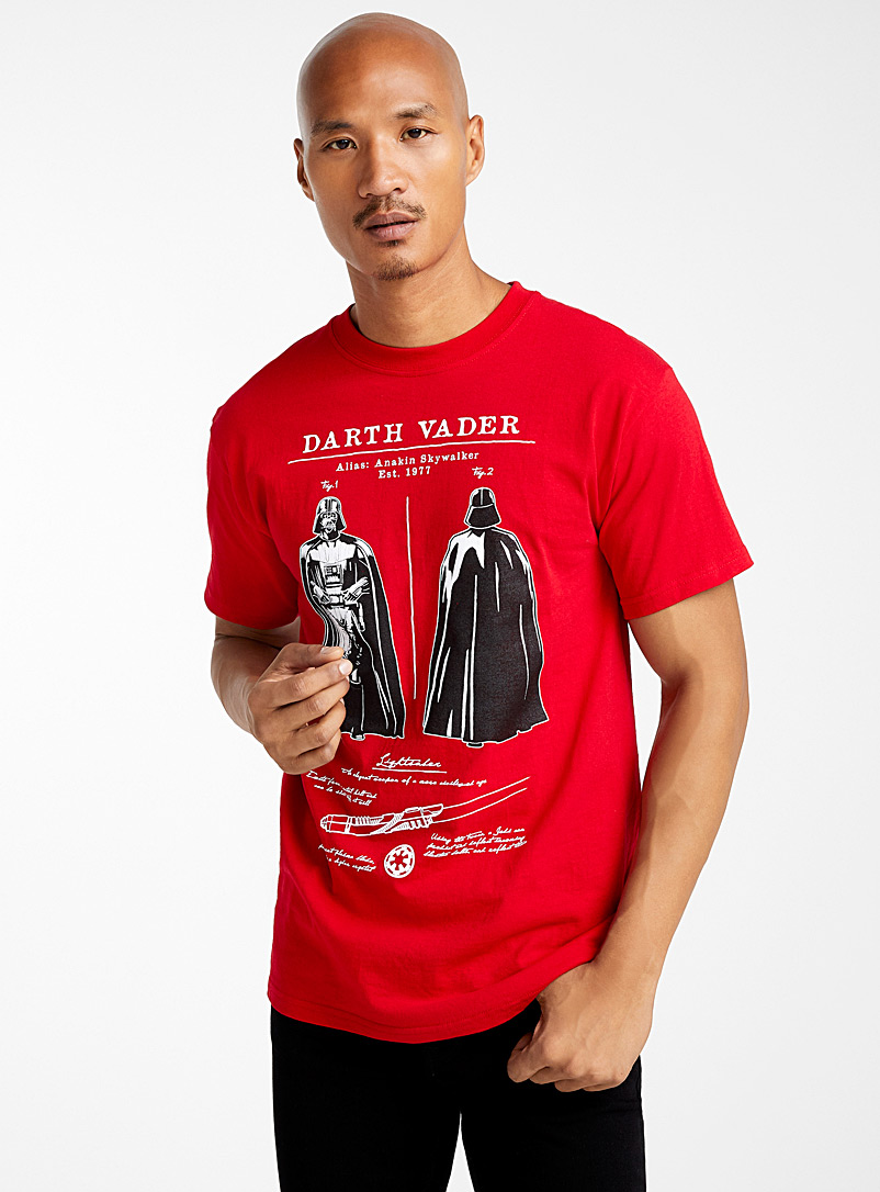 Le t-shirt Darth Vader - Imprimés - Rouge