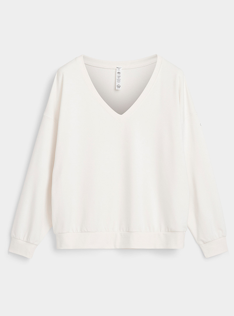 Alo yoga Ivory White Dreamy cool jersey loose sweater for error