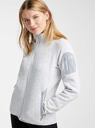 Le cardigan tricot polaire Covert