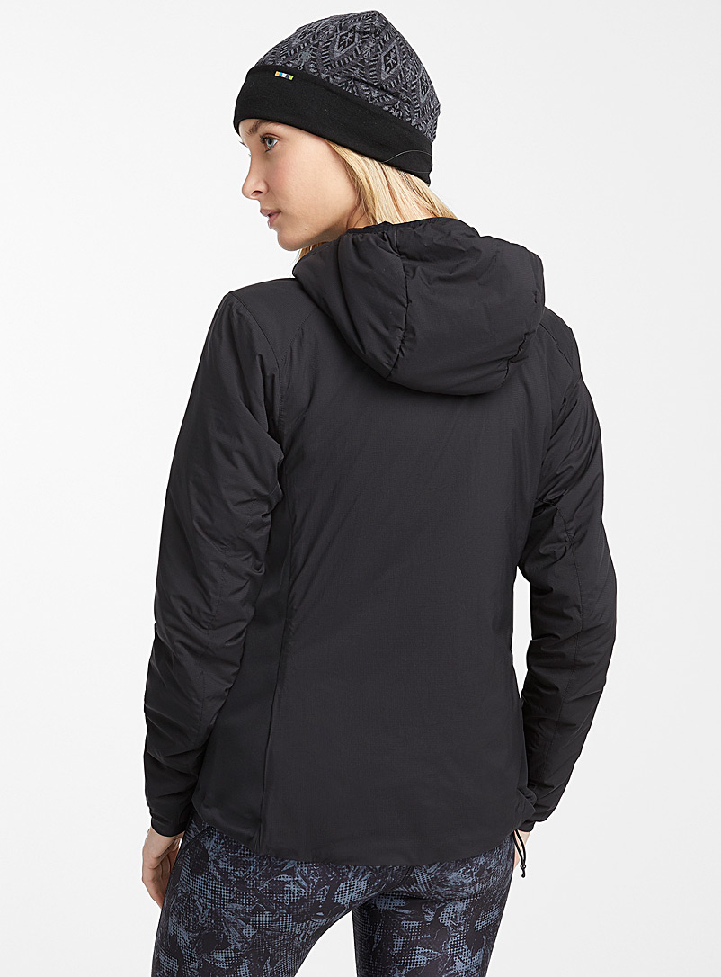 Arc'teryx Black Atom LT hooded jacket  Fitted style for women