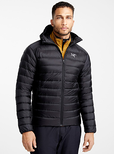Arc'teryx Black Cerium LT hooded jacket  Fitted style for men