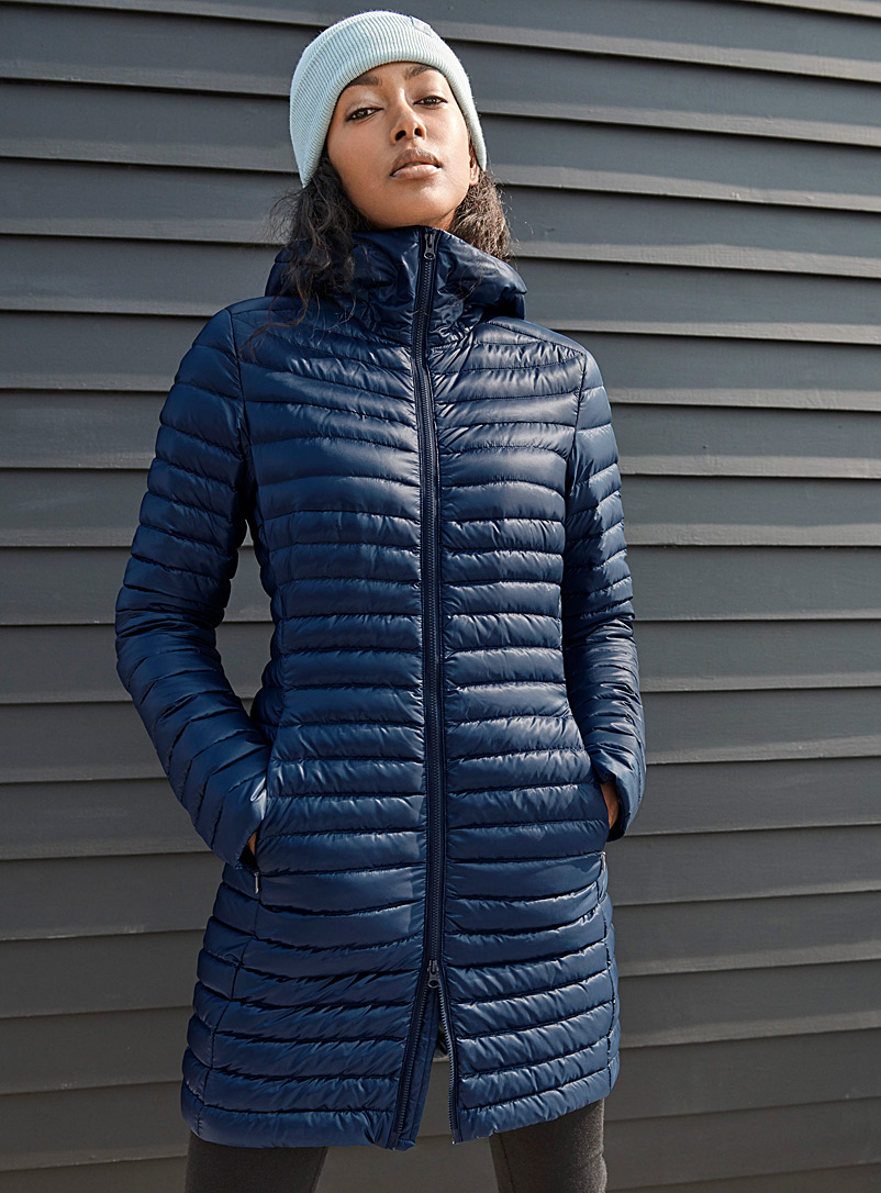 Arc'teryx Dark Blue Nuri long quilted jacket  Long fit for women