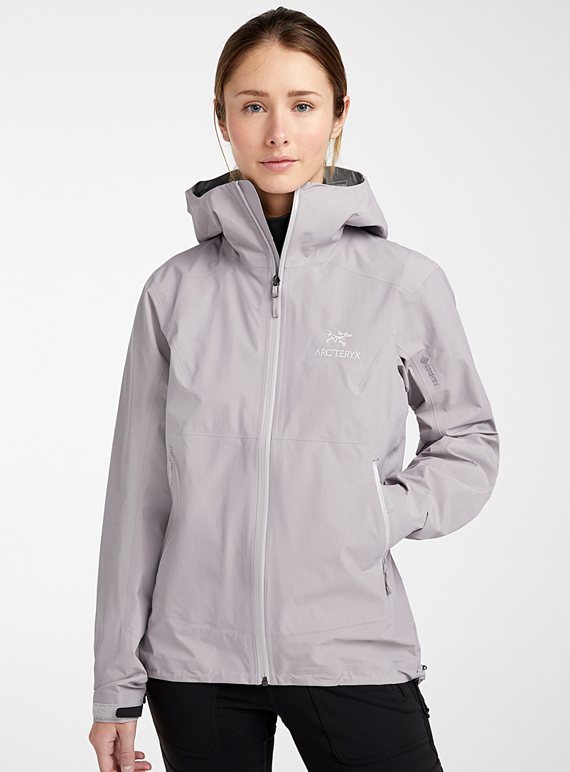 Arc'teryx Silver Zeta SL waterproof shell for women