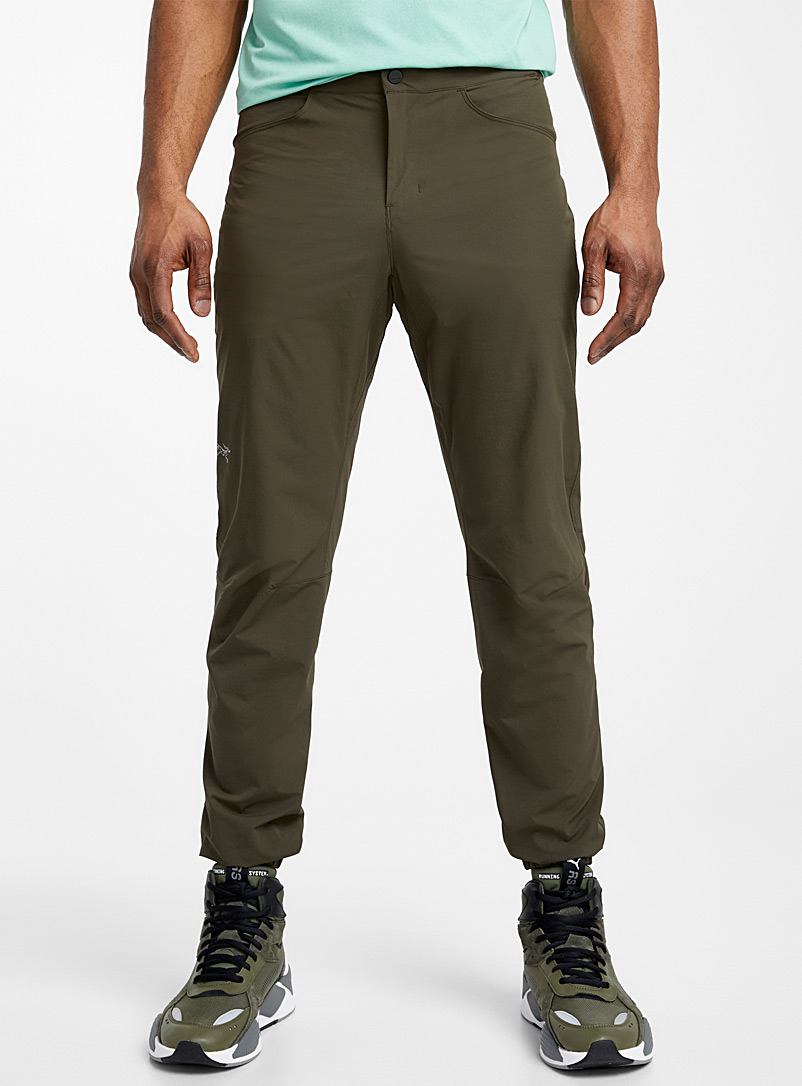 Arc'teryx Khaki Kestros climbing pant for men