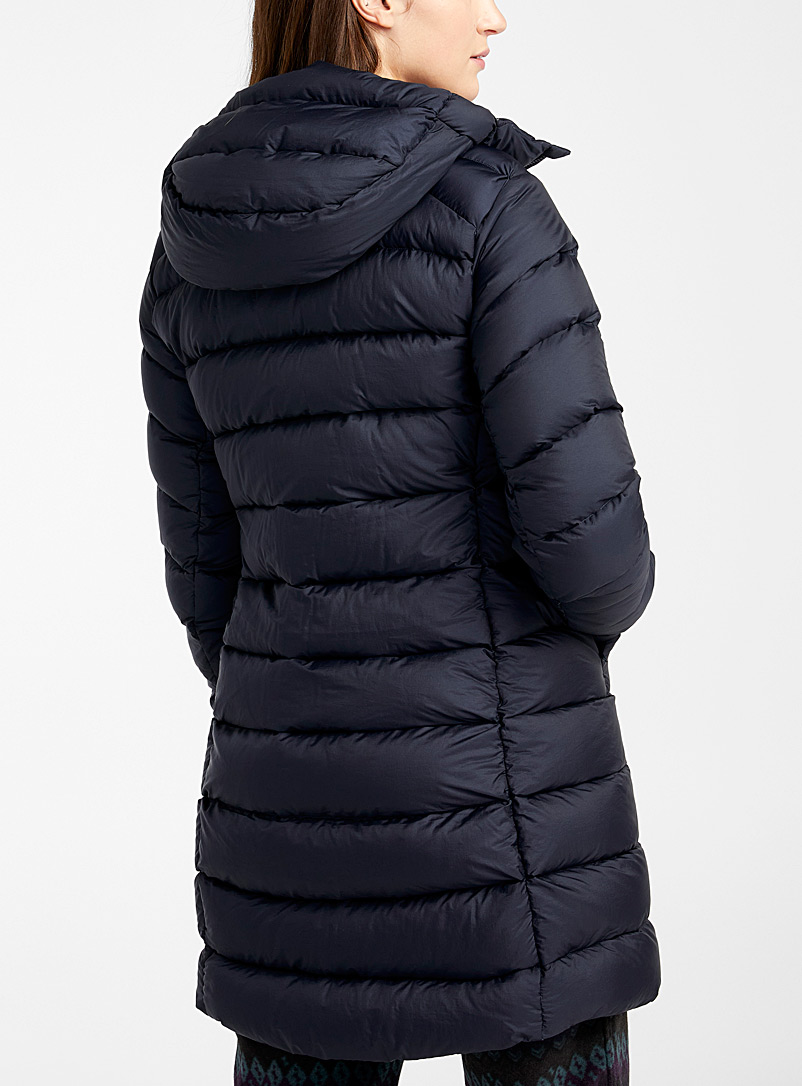 Arc'teryx Marine Blue Seyla quilted coat  Long fit for women