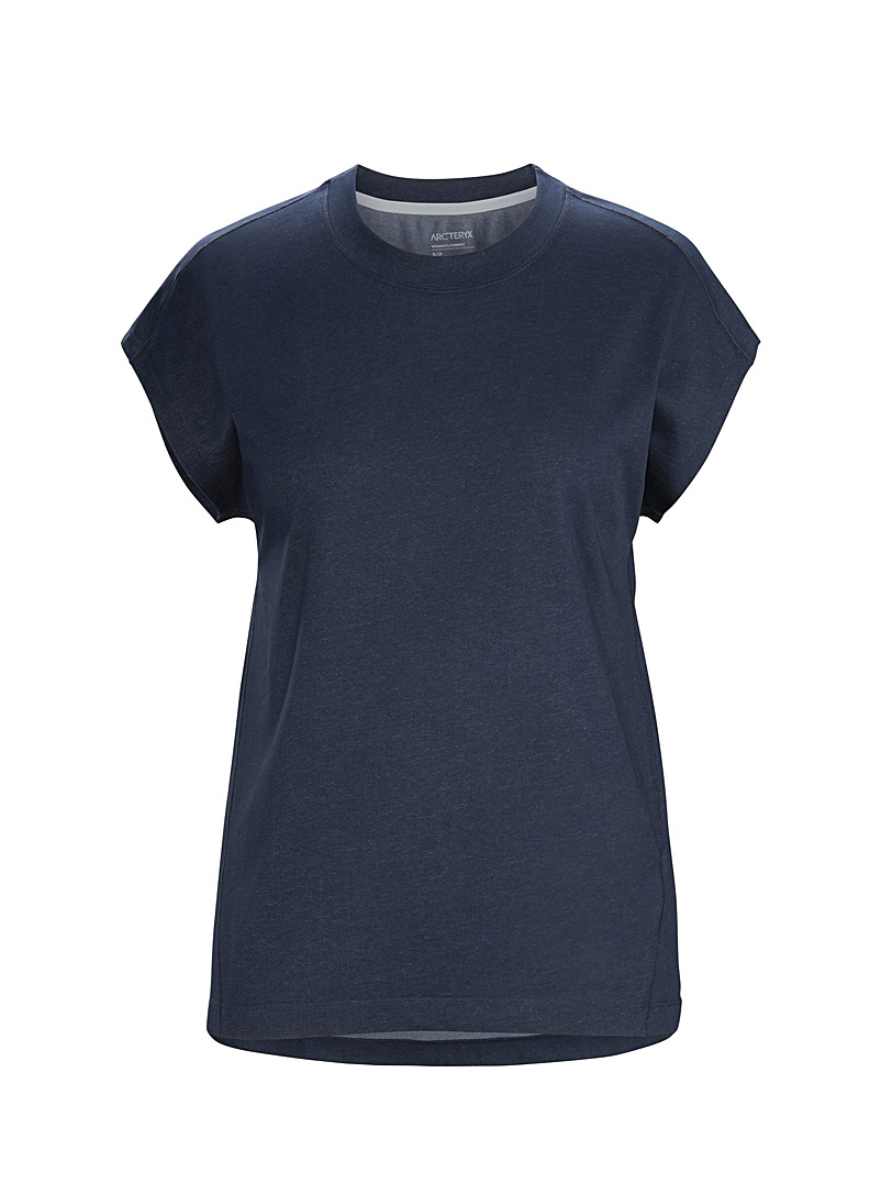 Arc'teryx Dark Blue Ardena eco-friendly crew neck tee for women