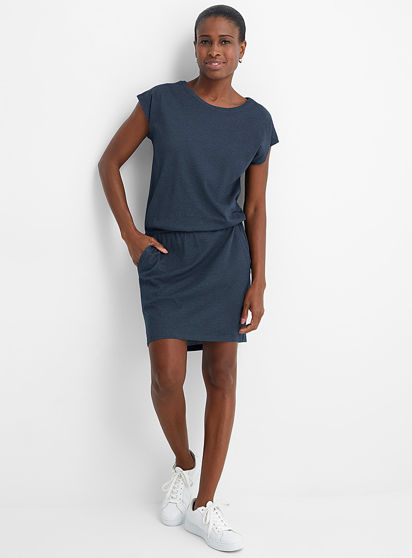 Arc'teryx Blue Ardena elastic waist jersey dress for women
