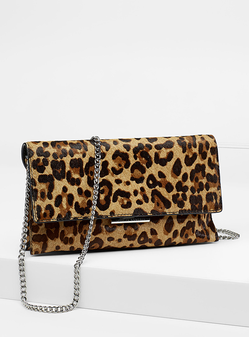 Tab clutch - Designer Bags - Patterned Brown