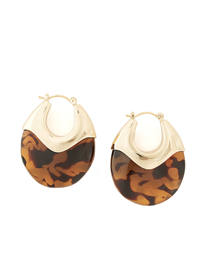 Loeffler Randall Brown Laini hoops for women
