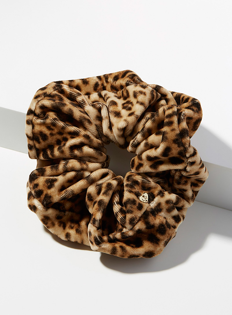 Romi scrunchie - Scrunchies - Patterned Brown