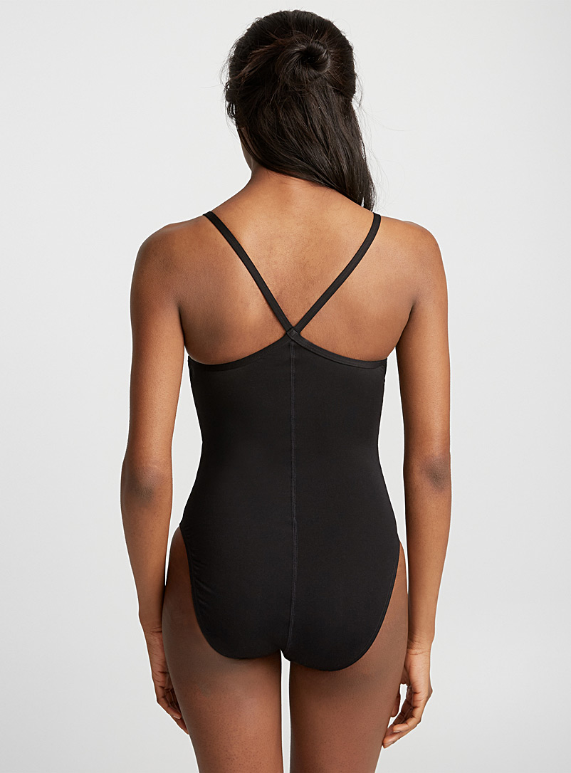 Speedo Black Logo solid one-piece for women