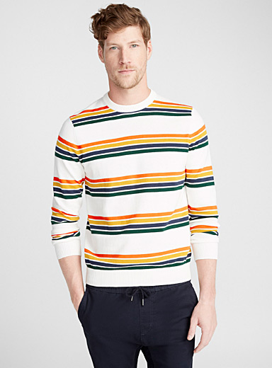 Le pull rayures groupées