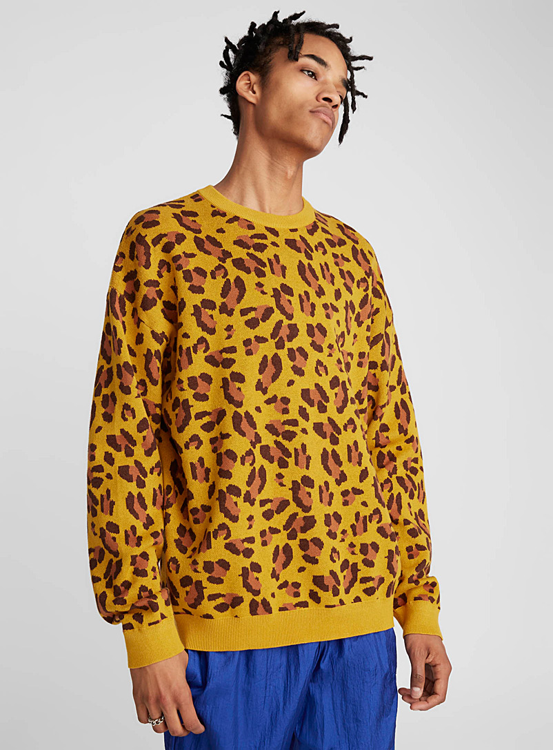 Recolored leopard sweater - Crew necks - Golden Yellow