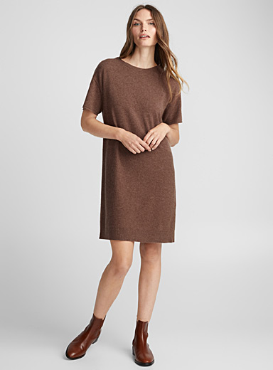 Merino and cashmere cocoon dress