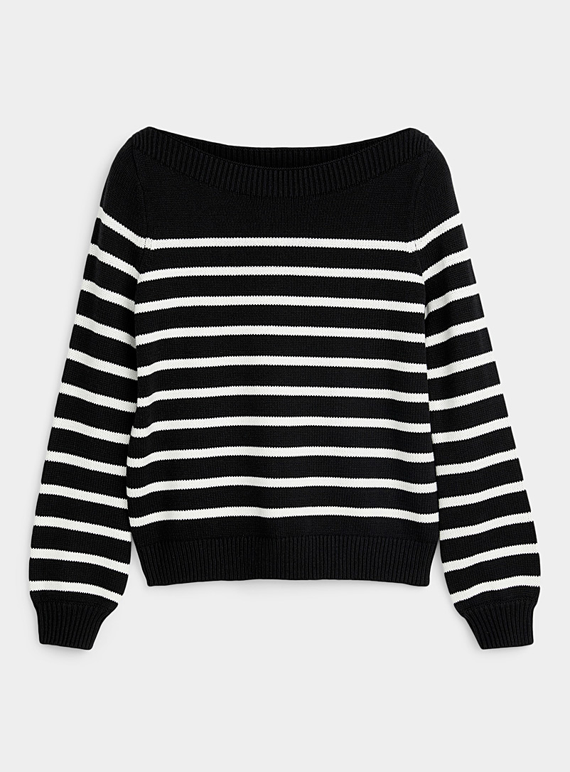 Boat-neck sailor sweater