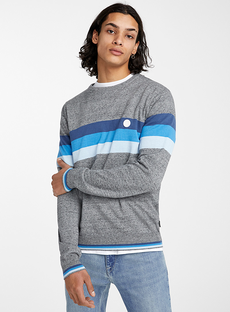 Djab: Le pull accent rayures Charbon pour homme