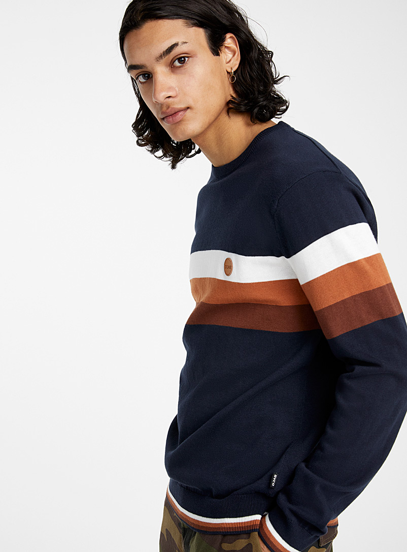 Djab: Le pull accent rayures Marine pour homme
