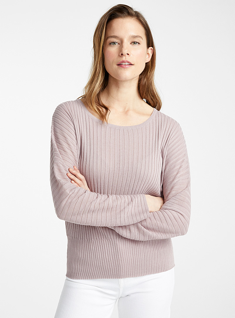 Contemporaine Dusky Pink Dolman sleeve fluid sweater for women