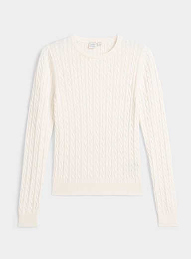 Organic cotton cable knit sweater | Twik | Shop Women