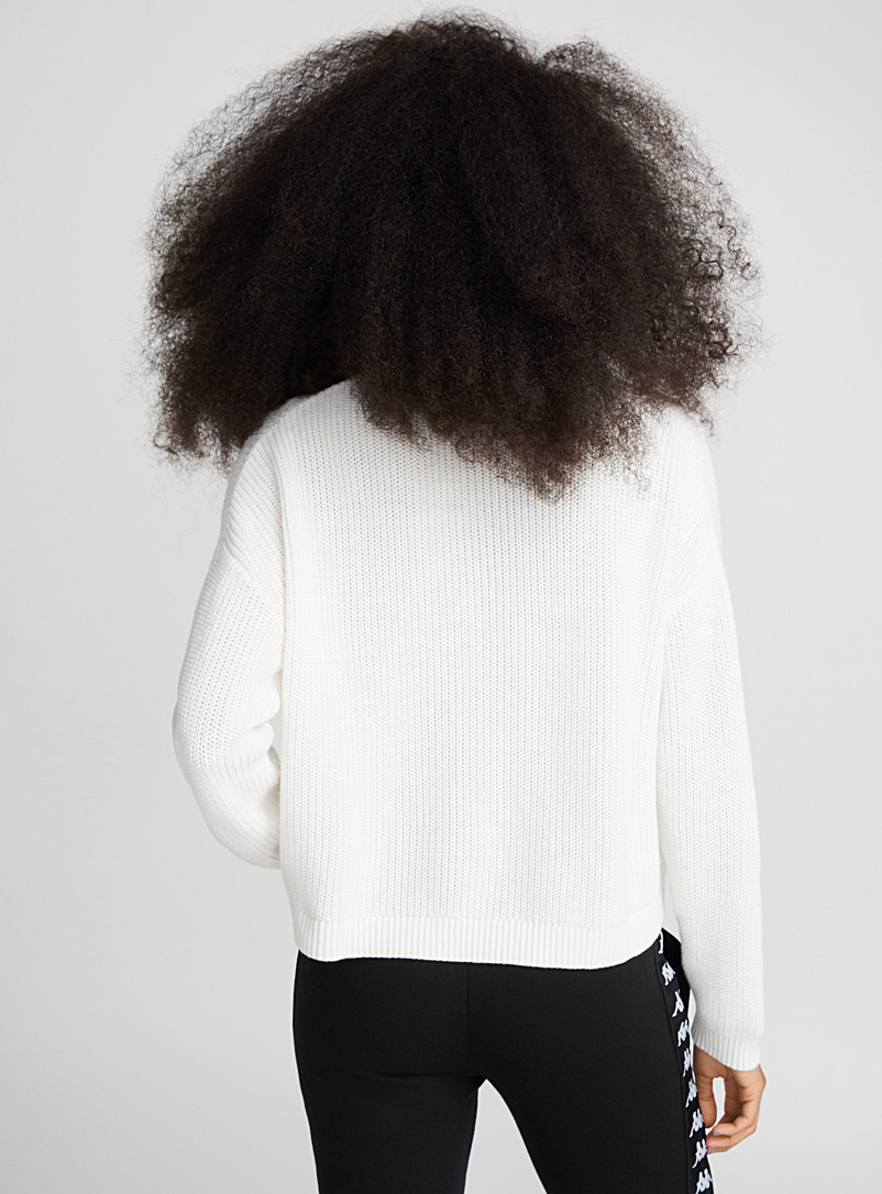 Le pull court manches tombantes - Pulls - Ivoire blanc os
