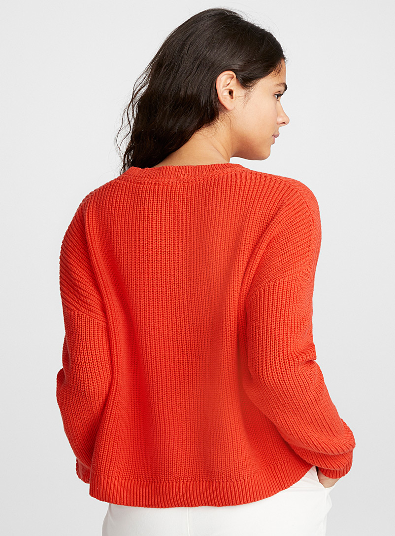 Le pull court manches tombantes - Pulls - Corail