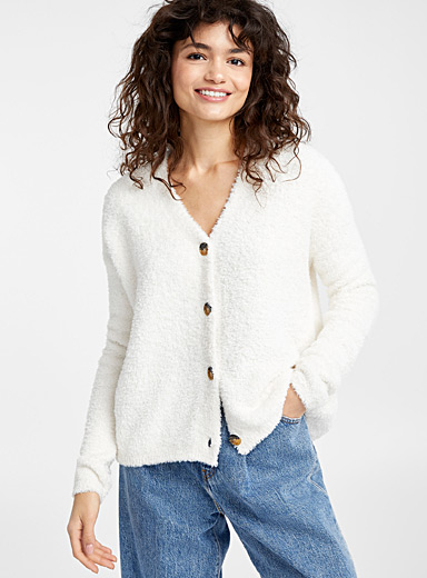 Cozy plush cardigan