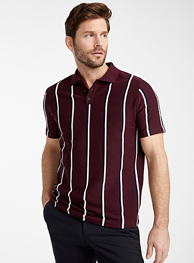 Double stripe knit polo
