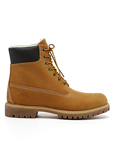 Sherpa-lined heritage boots <br>Men