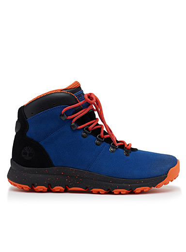 Blue and orange World Hiker boots  Men