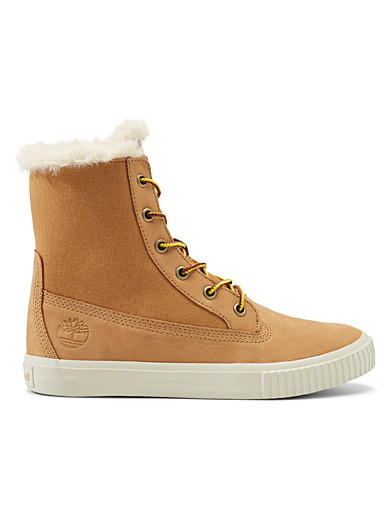 Timberland Cream Beige Skyla Bay boots for women