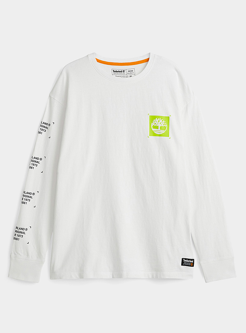 Timberland White Logo in apposition T-shirt for men