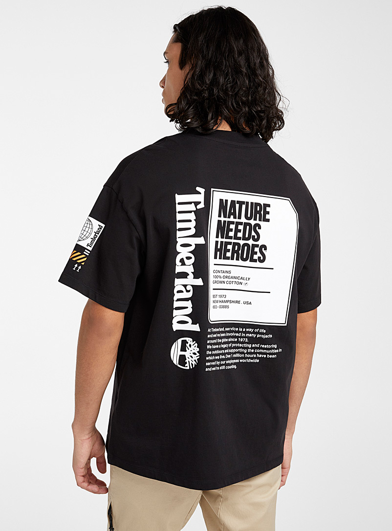 Timberland Black Eco-friendly nature T-shirt for men