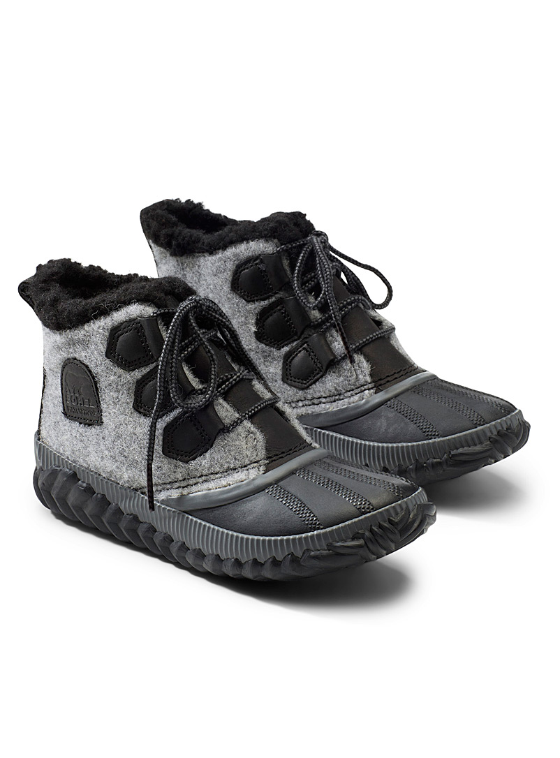 Sorel Light Grey Out 'N About Plus booties  Women for women