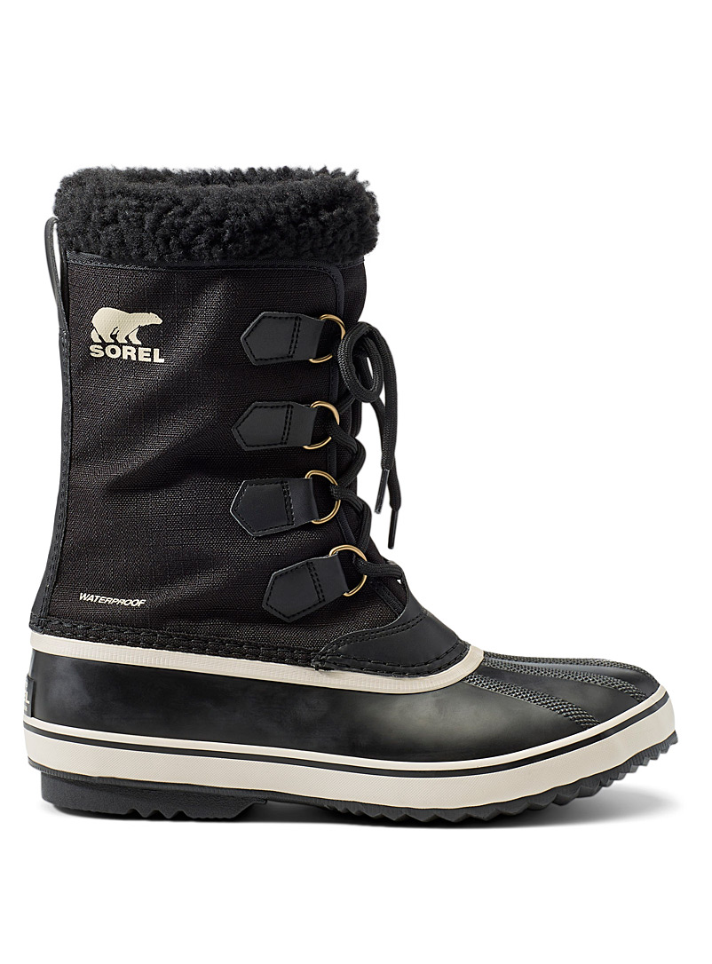 Sorel Black 1964 nylon waterproof boots for men