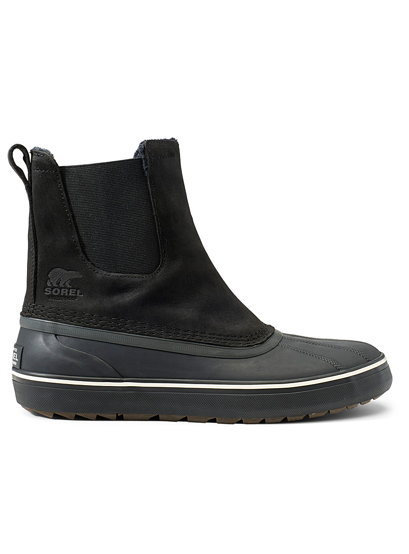 Sorel Black Cheyanne Chelsea WP boots  Men for men