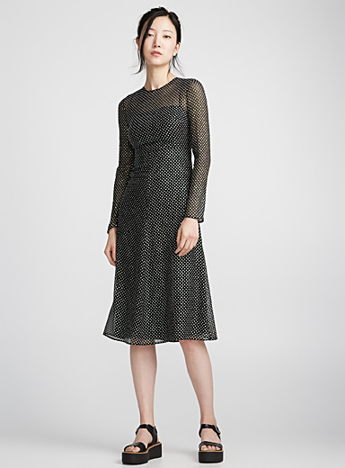 Shimmery dot dress