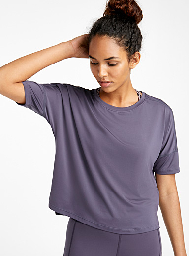 Loose recycled microfibre tee