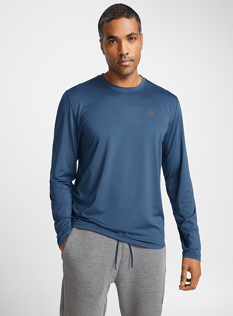 Round-neck microfibre tee - T-shirts - Blue