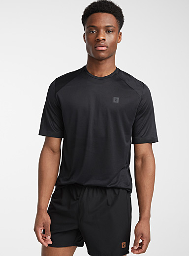I.FIV5 Black Reflective-cuff tee for men