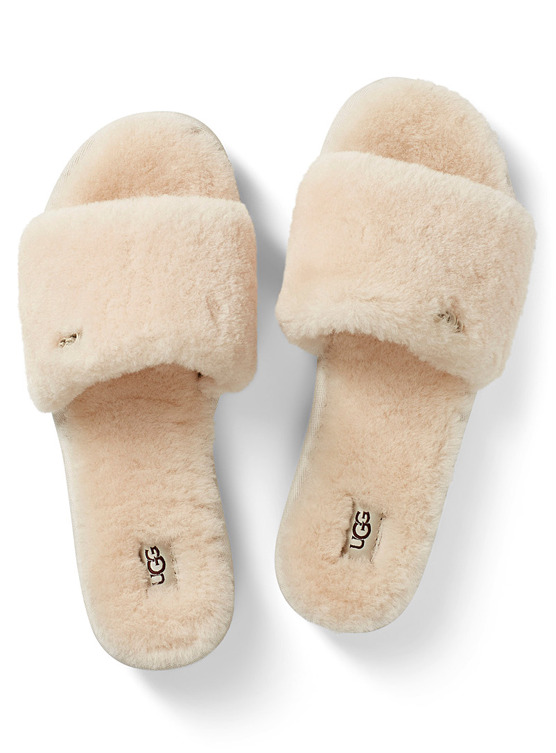 UGG Ivory White Ivory Cozette slides for women