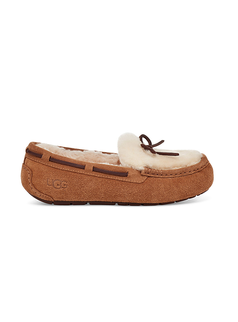 UGG Fawn Dakota Fluff moccasin slipper for women