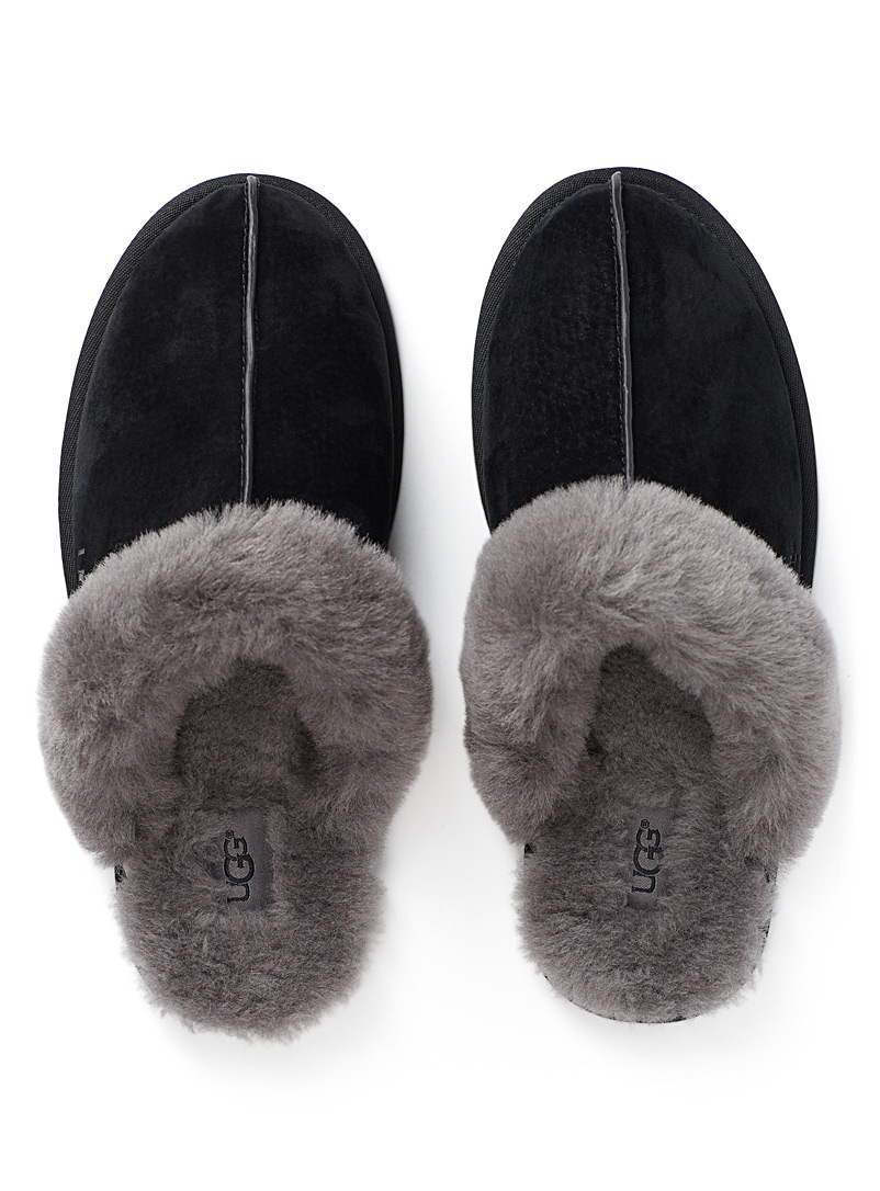 Shearling mule slippers - Slippers - Black