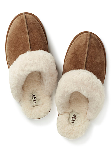 Shearling mule slippers